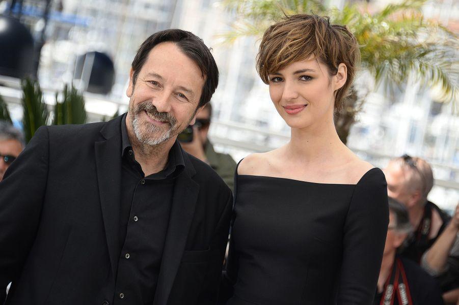 Jean-Hugues Anglade et Louise Bourgoin à Cannes le 20 mai 2015