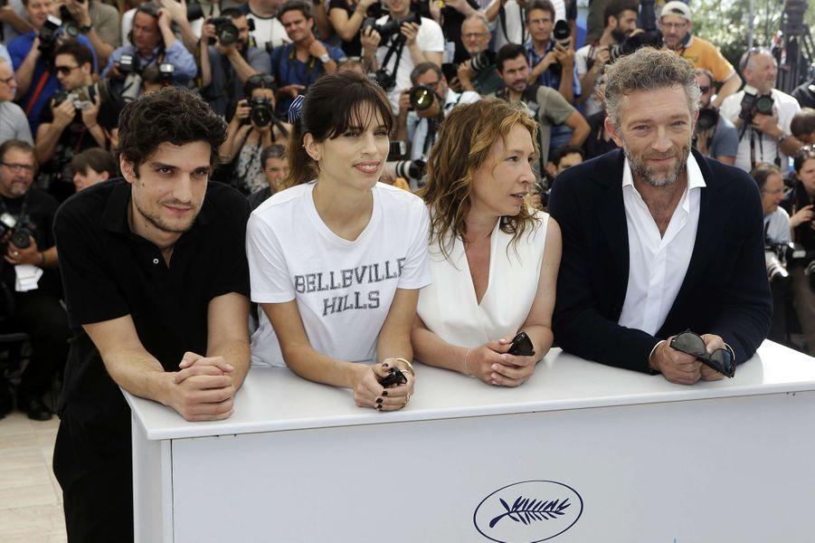 Louis Garrel, Maïwenn, Emmanuelle Bercot et Vincent Cassel à Cannes le 17 mai 2015
