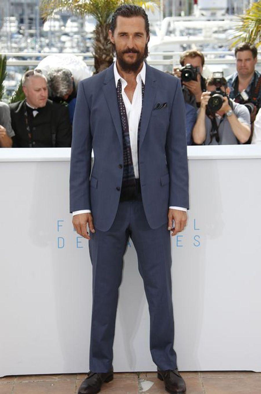 Matthew McConaughey à Cannes le 16 mai 2015