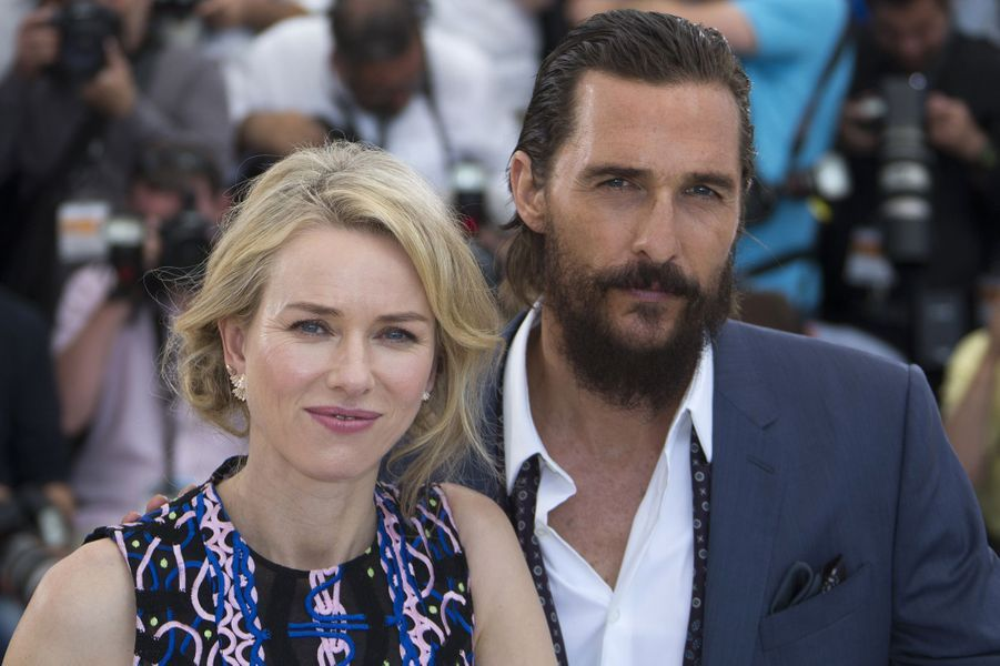 Naomi Watts et Matthew McConaughey à Cannes le 16 mai 2015