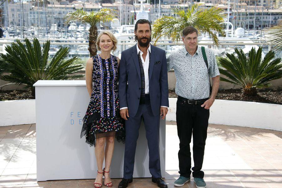 Naomi Watts, Matthew McConaughey et Gus Van Sant à Cannes le 16 mai 2015