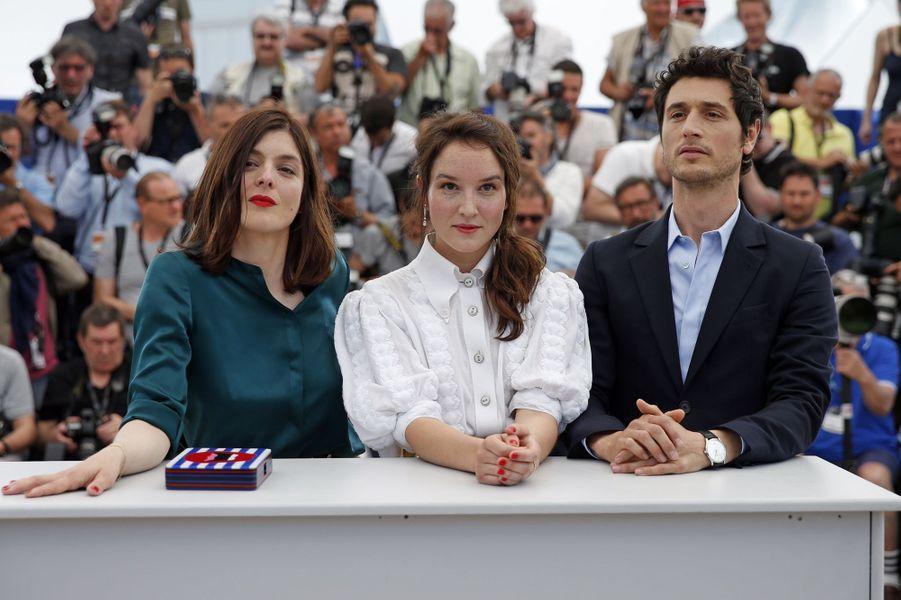 Valérie Donzelli, Anaïs Demoustier et Jérémie Elkaïm à Cannes le 19 mai 2015