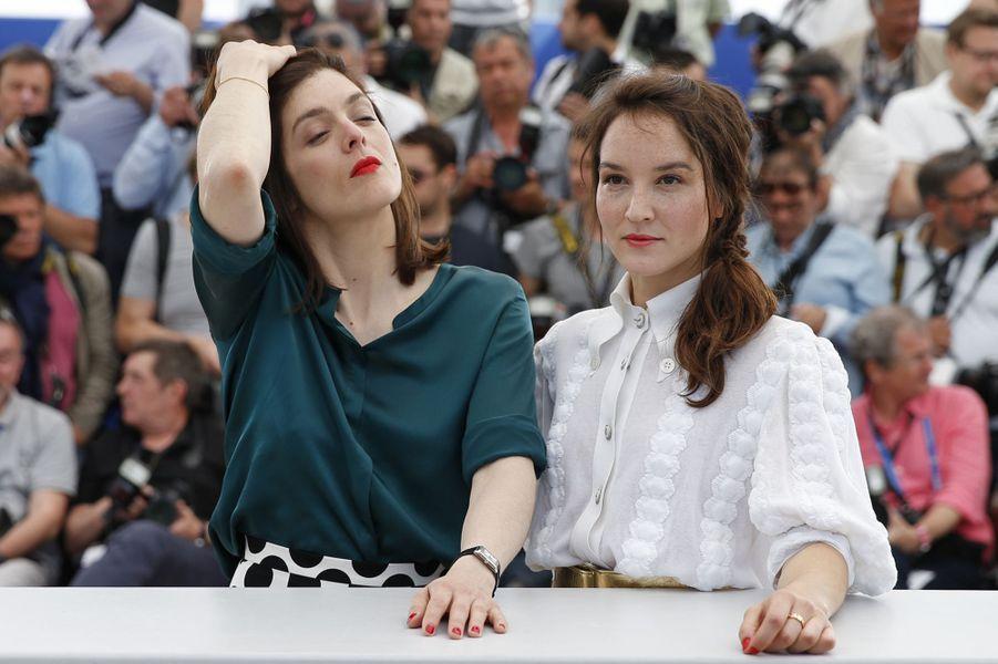 Valérie Donzelli et Anaïs Demoustier à Cannes le 19 mai 2015