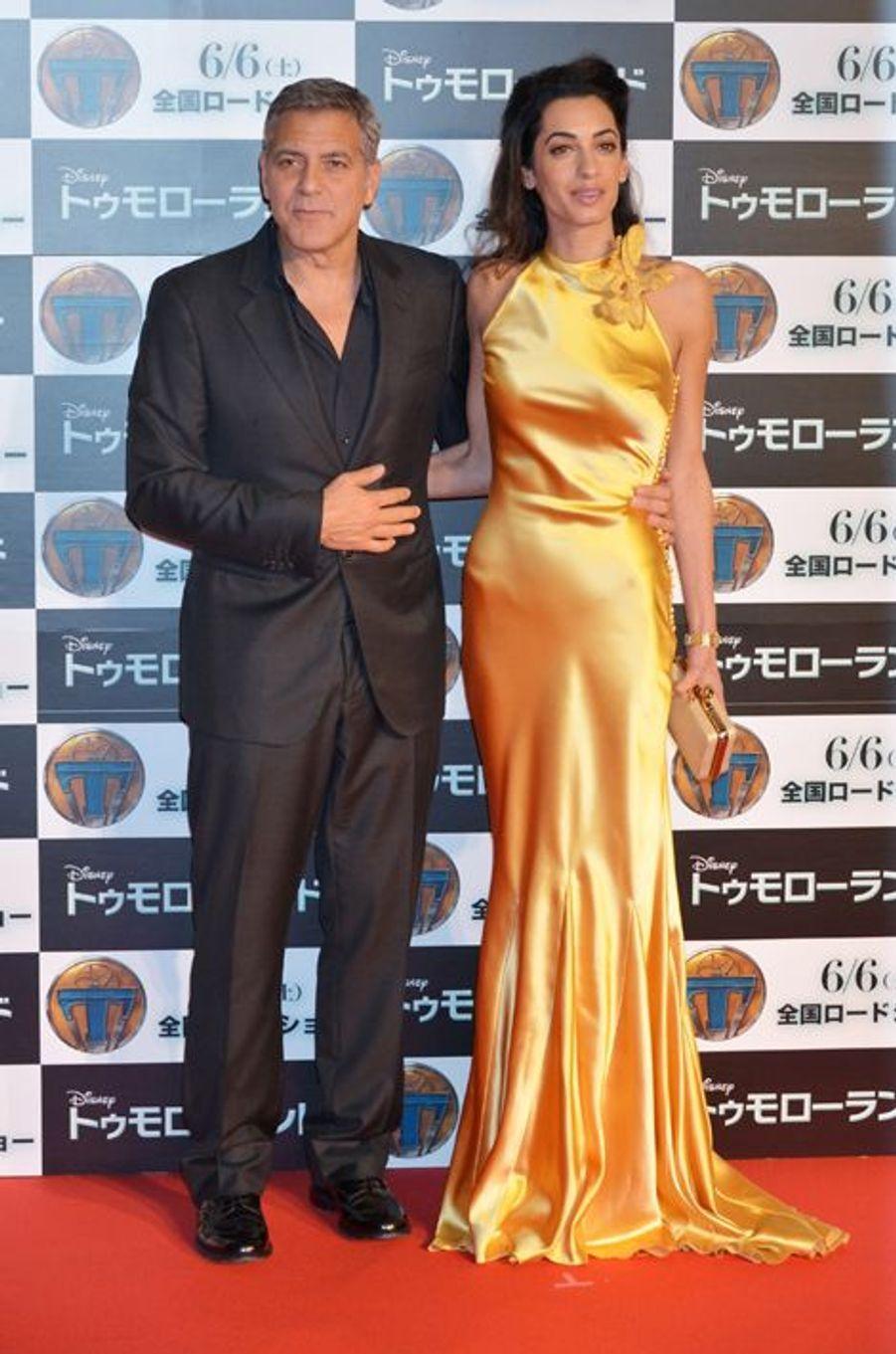 Amal et George Clooney à Tokyo le 25 mai 2015