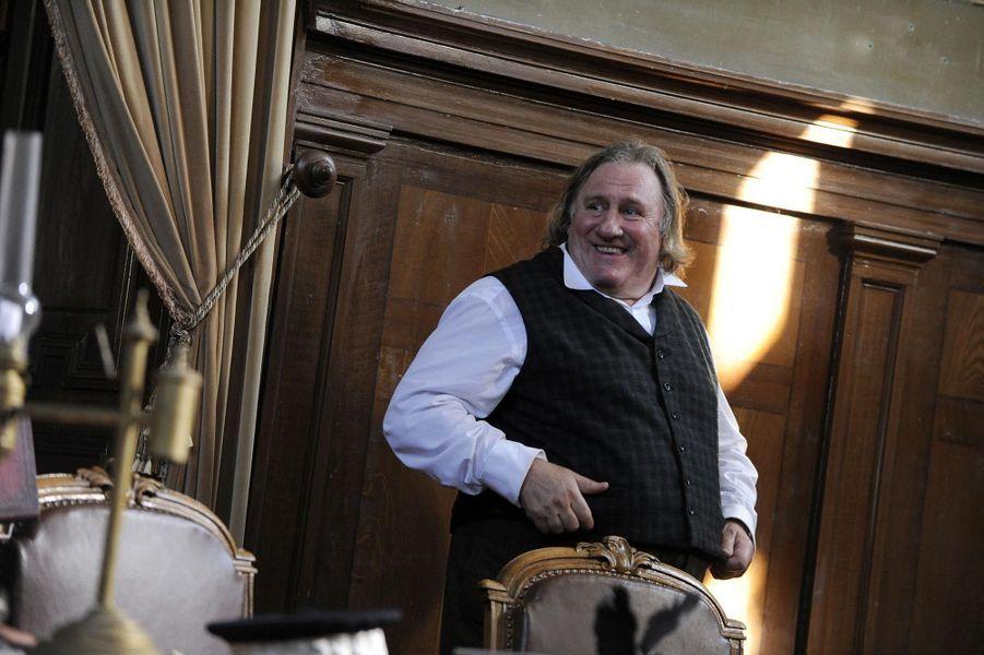 Sur le tournage du dernier film de Jean-Pierre Mocky, avec Gérard Depardieu