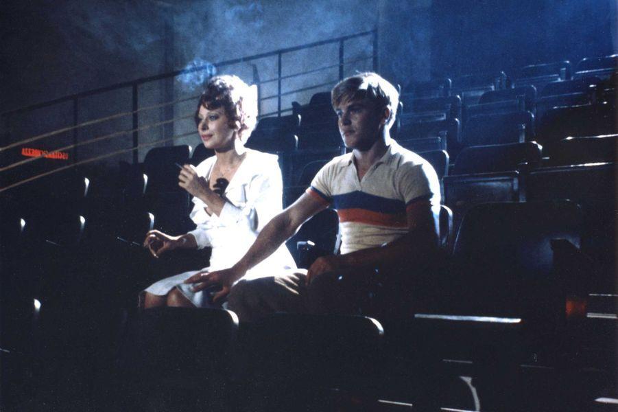 "1973. Magali Noël et Bruno Zanin dans ""Amarcord"" de Federico Fellini."