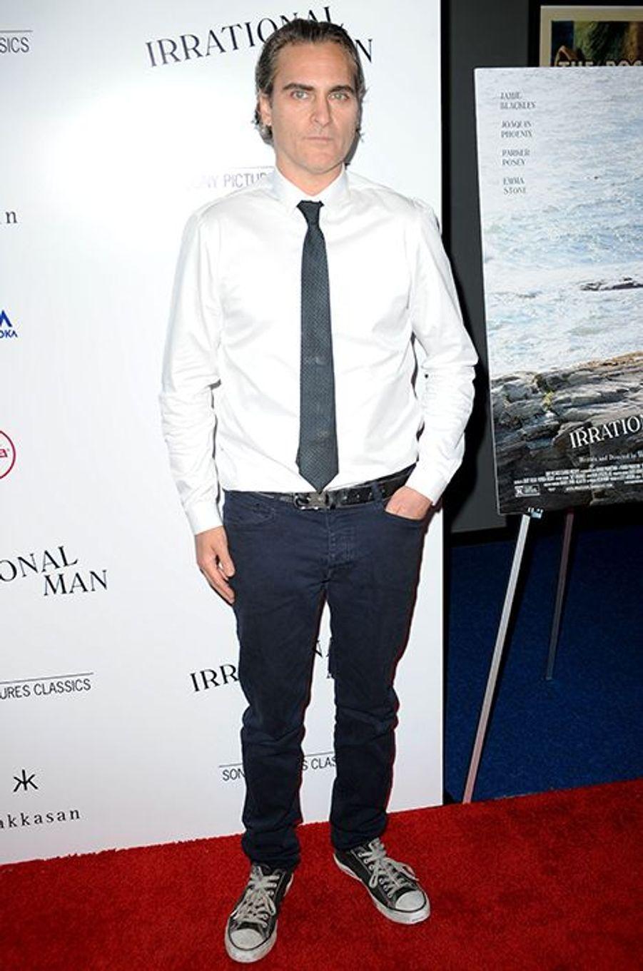Joaquin Phoenix à Los Angeles le 9 juillet 2015
