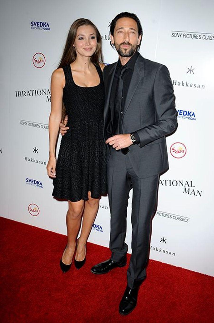 Lara Lieto et Adrien Brody à Los Angeles le 9 juillet 2015