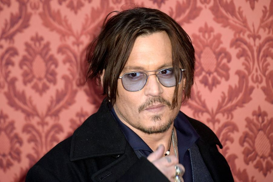 Johnny Depp à Berlin le 18 janvier 2015
