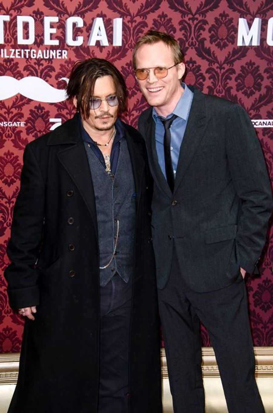 Johnny Depp et Paul Bettany à Berlin le 18 janvier 2015