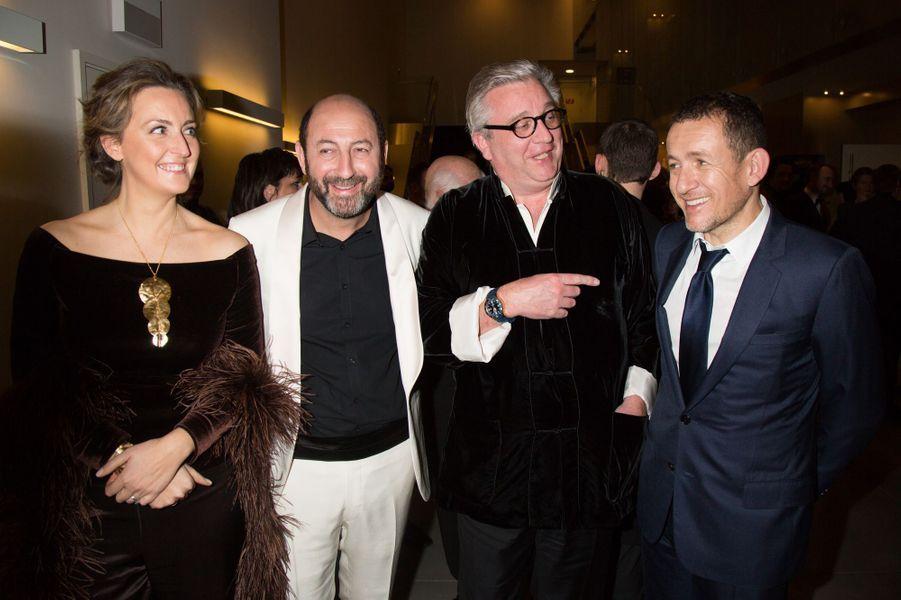 Princesse Claire de Belgique, Kad Merad, Prince Laurent de Belgique et Dany Boon