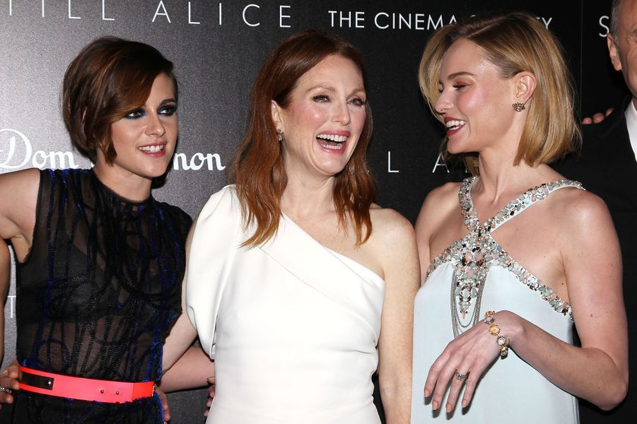 Kristen Stewart, Julianne Moore et Kate Bosworth à New York le 13 janvier 2014