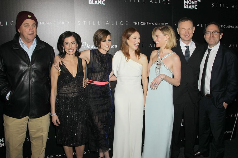 """L'équipe du film """"Still Alice"""" réunie pour une projection à New York le 13 janvier 2014"""