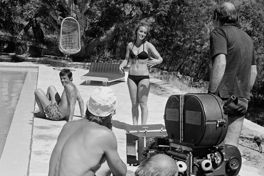« La piscine » de Jacques Deray. Alain Delon et Romy Schneider. France. 1968
