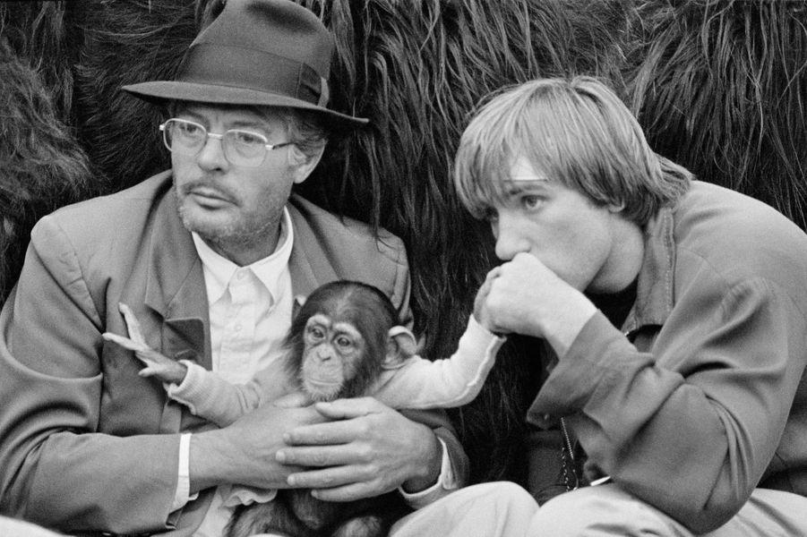 « Rêve de singe » de Marco Ferreri. Marcello Mastroianni et Gérard Depardieu. États-Unis. 1977