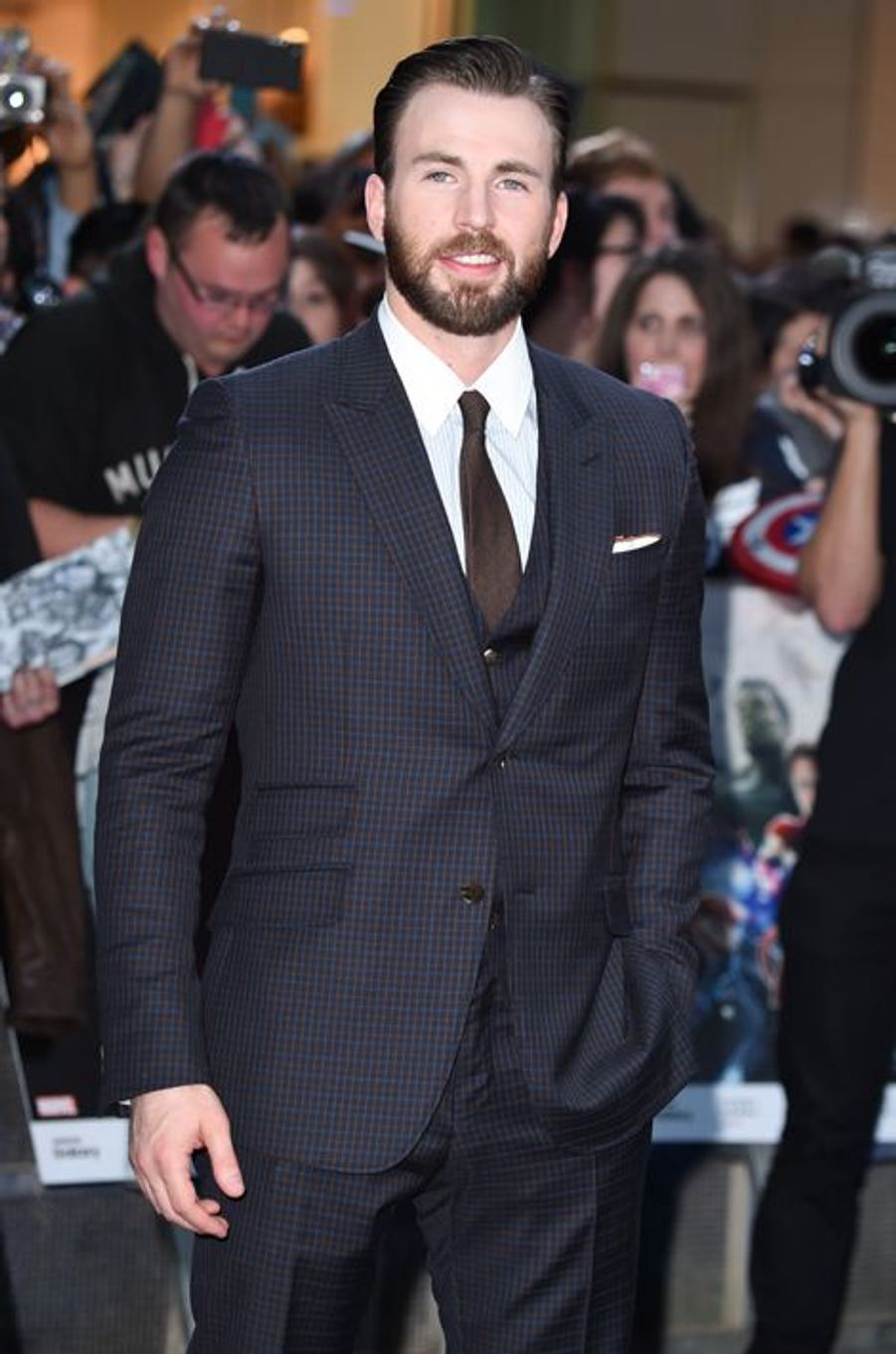 Chris Evans à Londres le 21 avril 2015