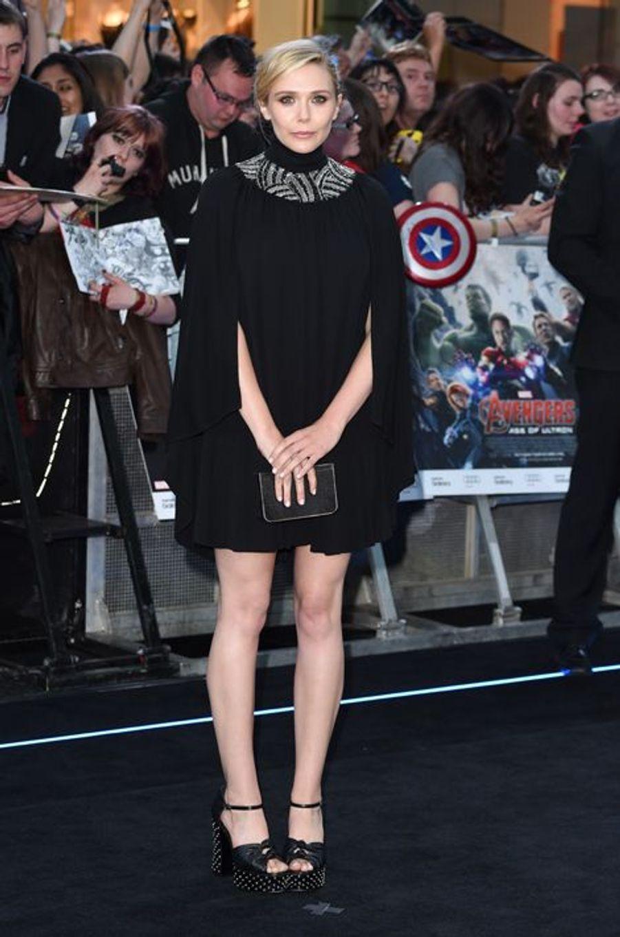 Elizabeth Olsen à Londres le 21 avril 2015
