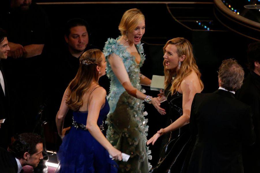 Brie Larson, Cate Blanchett et Kate Winslet