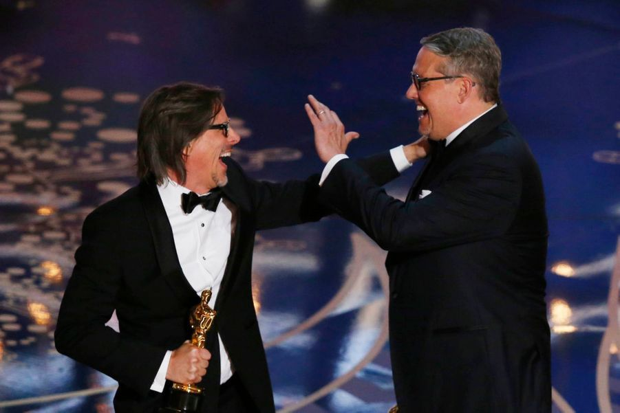 "Charles Randolph et Adam McKay, Oscar du meilleur scénario adapté pour ""The Big Short"""