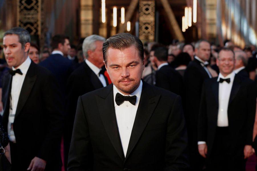 L'arrivée dans la salle de Leonardo DiCaprio