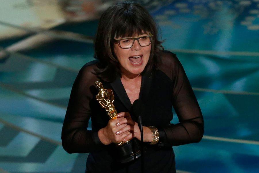 Margaret Sixel exulte pour son Oscar du meilleur montage