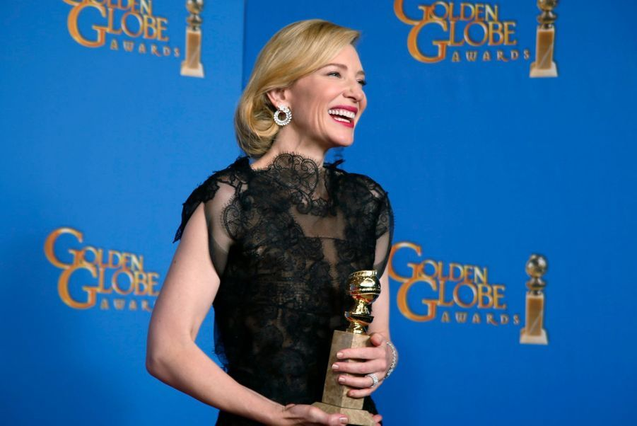 """Cate Blanchett (meilleure actrice dans un film dramatique pour """"Blue Jasmine"""")"""