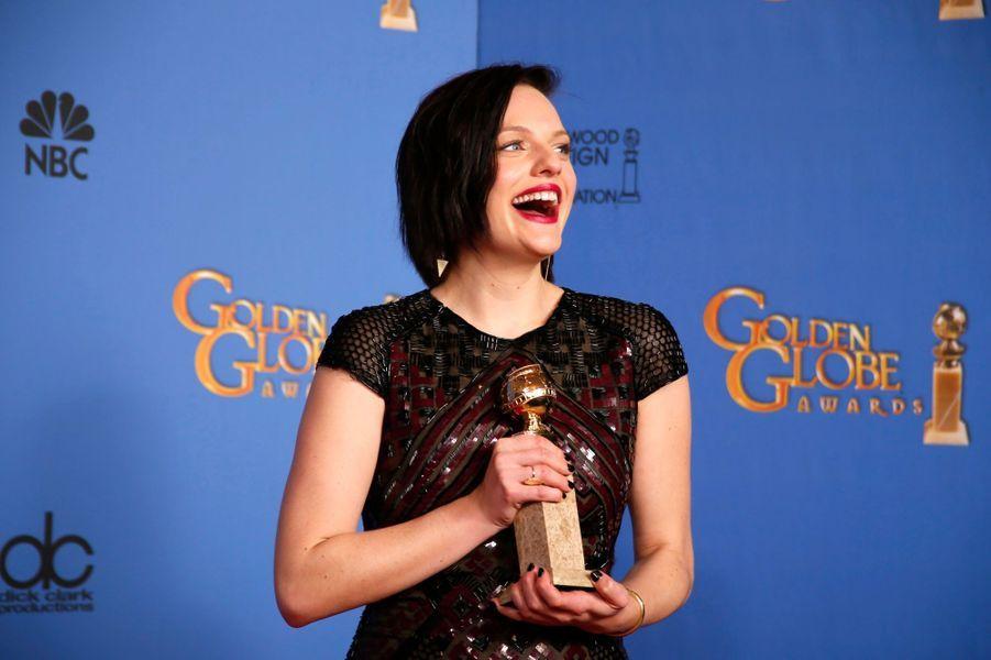 """Elizabeth Moss (prix de la meilleure actrice dans une mini-série pour """"Top of the Lake"""")"""