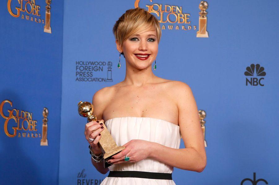 """Jennifer Lawrence (meilleure actrice dans un second rôle pour """"American Bluff"""")"""