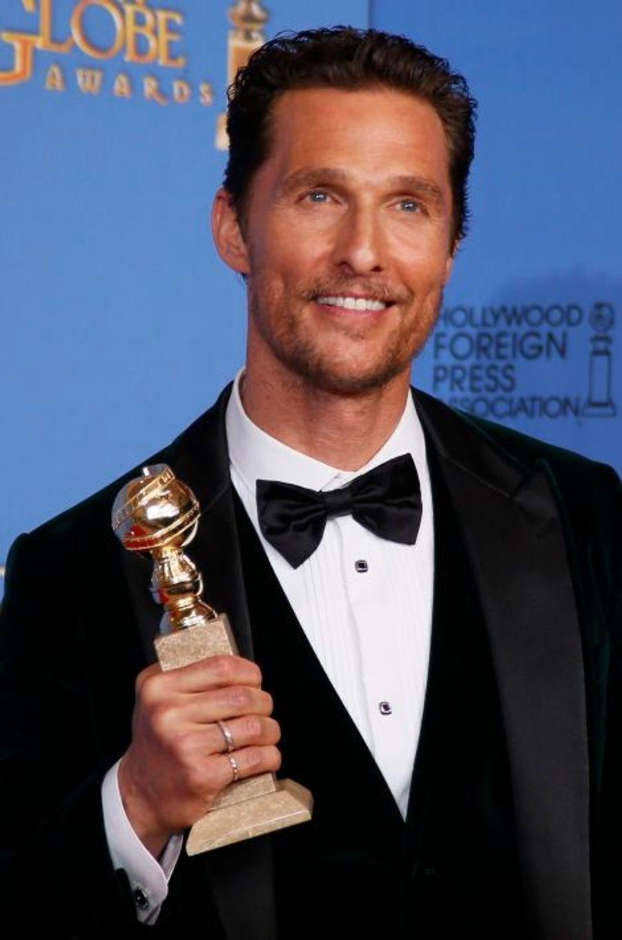 """Matthew McConaughey (meilleur acteur dans un rôle dramatique pour """"Dallas Buyers Club"""")"""