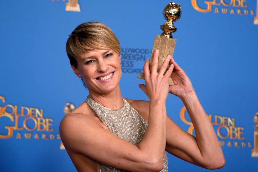 """Robin Wright (prix de la meilleure actrice dans une série pour """"House of Cards"""")"""