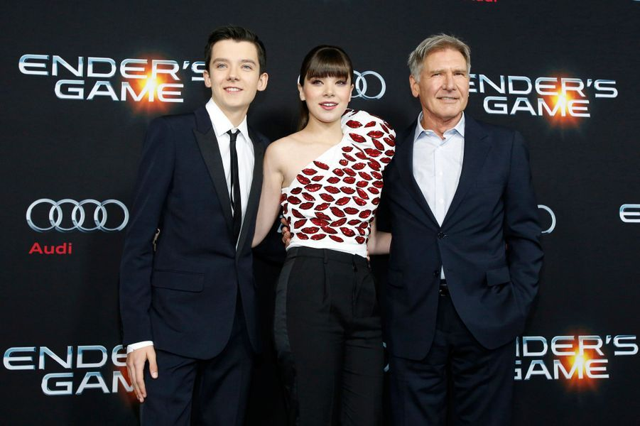 Asa Butterfield, Hailee Steinfeld et Harrison Ford