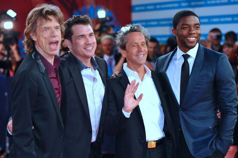 Mick Jagger, Tate Taylor, Brian Grazer, Chadwick Boseman
