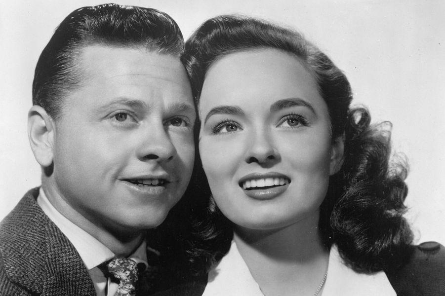 Avec Ann Blyth, en 1947