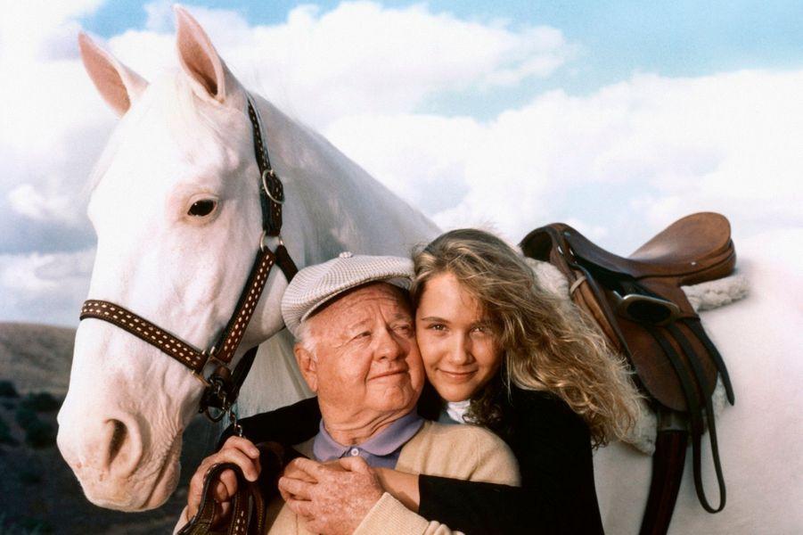 Avec Debra Berger, en 1986