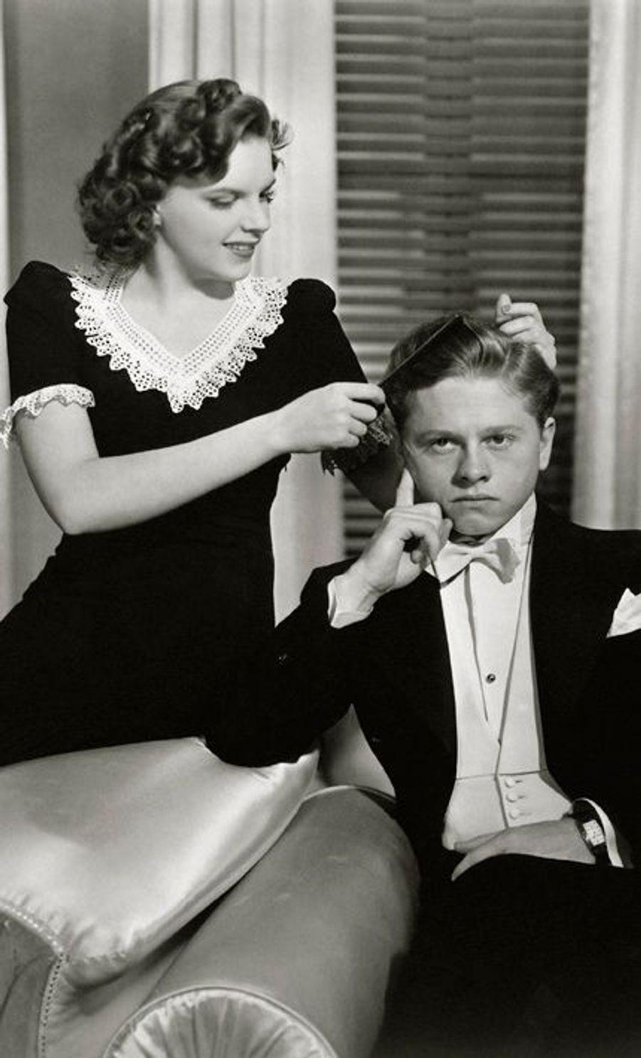 Avec Judy Garland en 1940
