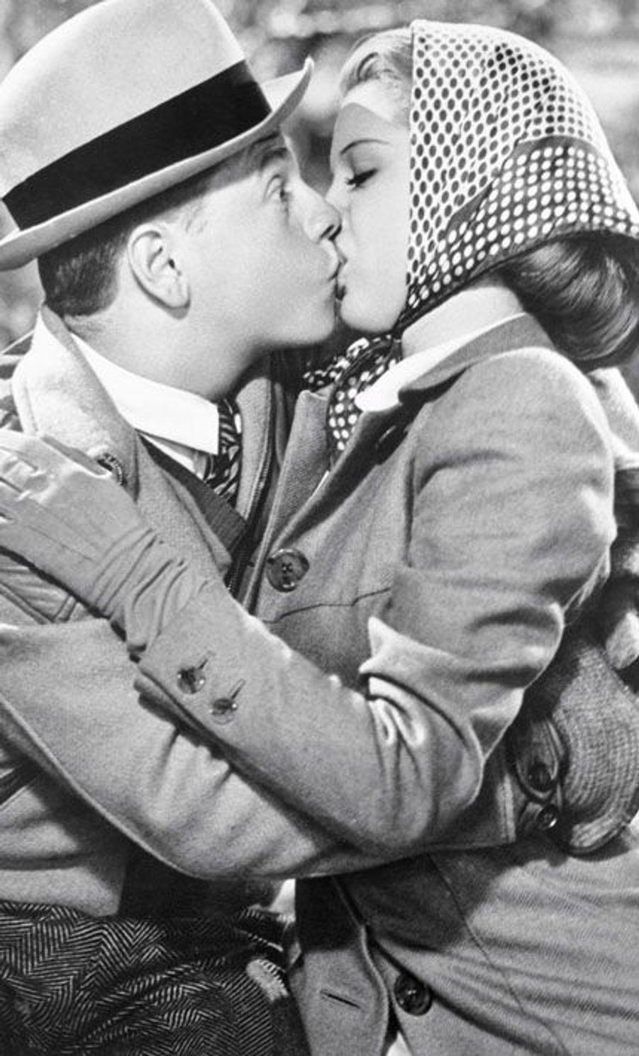 Avec Lana Turner, en 1938