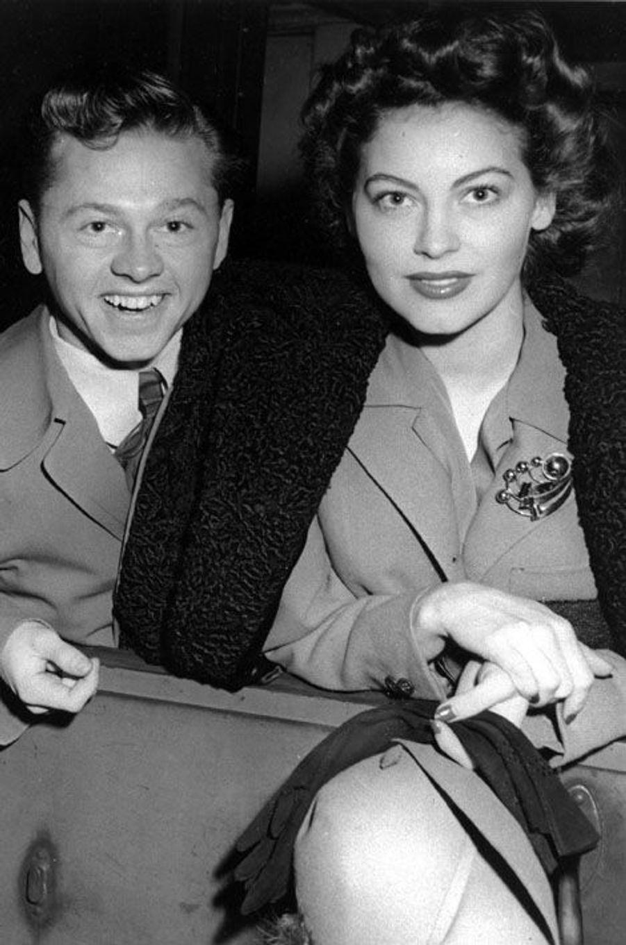 Avec sa première épouse Ava Gardner, en 1942