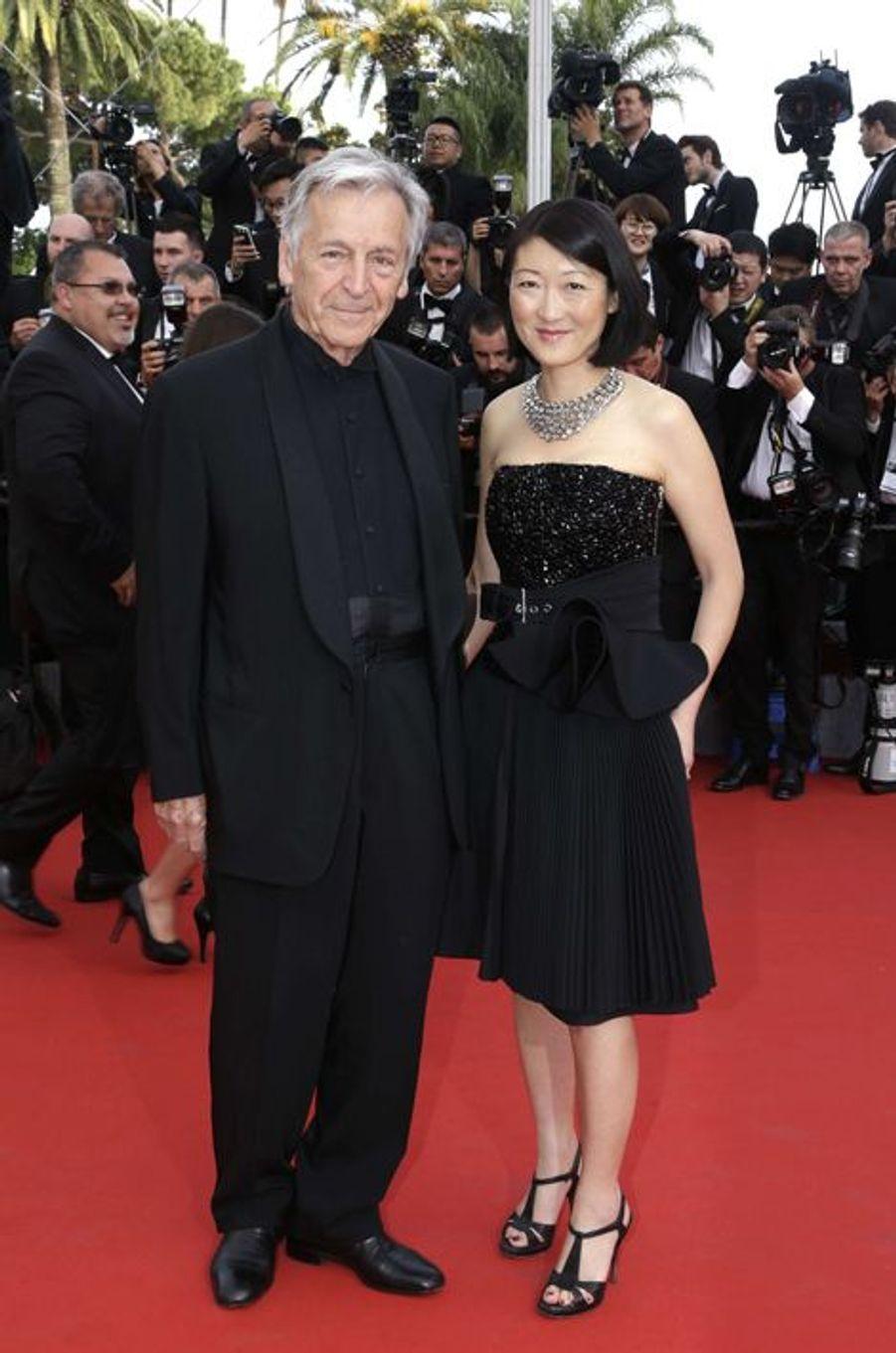 Costa-Gavras et la ministre de la Culture et de la Communication Fleur Pellerin à Cannes le 13 mai 2015