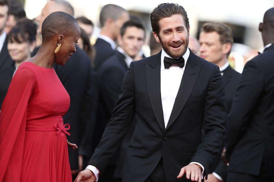 Rokia Traoré et Jake Gyllenhaal Cannes le 13 mai 2015