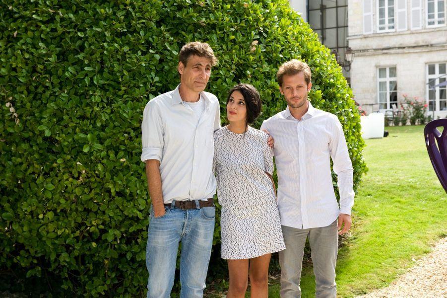 """Leila Bekhti, Serge Frydman et Nicolas Duvauchelle (""""Maintenant ou jamais"""")"""