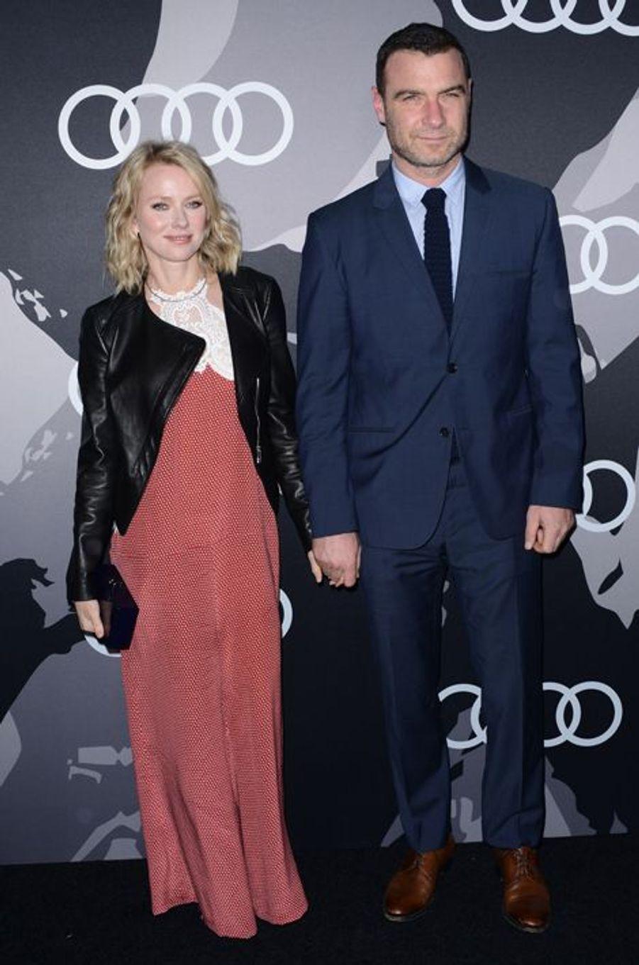 Naomi Watts et Liev Schreiber à Los Angeles le 8 janvier 2014