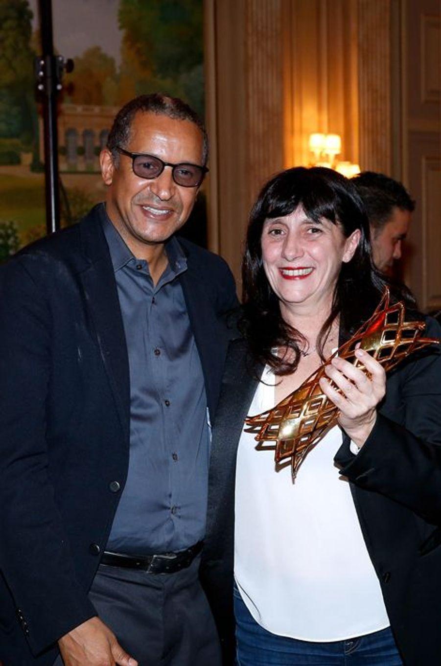 Abderrahmane Sissako et Sylvie Pialat à Paris le 16 février 2015