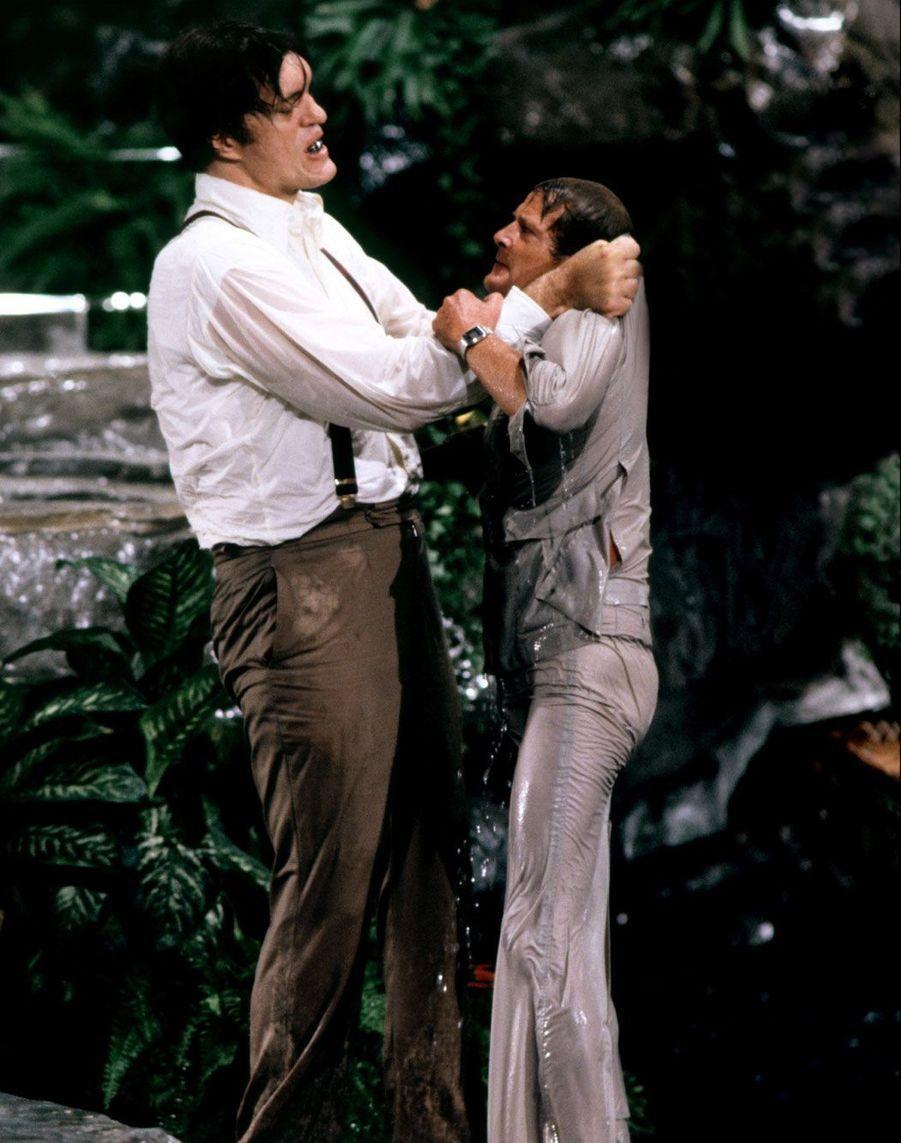"""Aux prises avec Roger Moore dans """"Moonraker"""""""