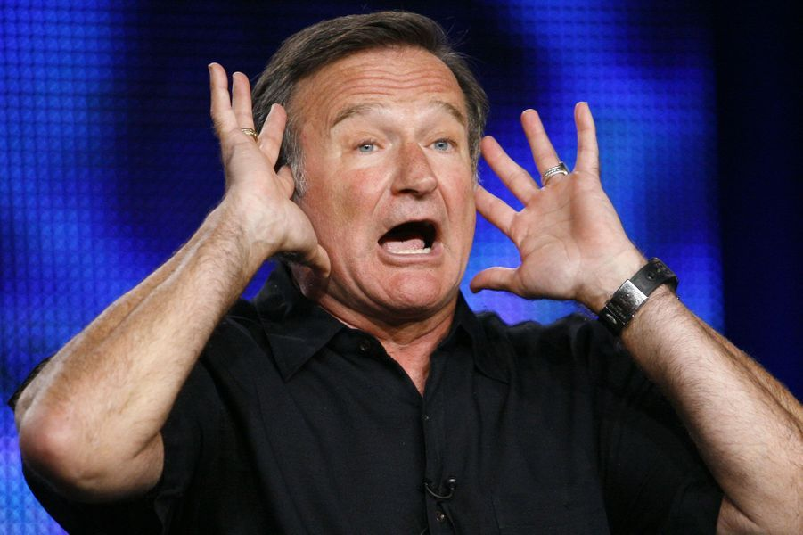 """Il présente son show pour HBO, """"Robin Williams: Weapons of Self-Destruction"""" en 2009"""