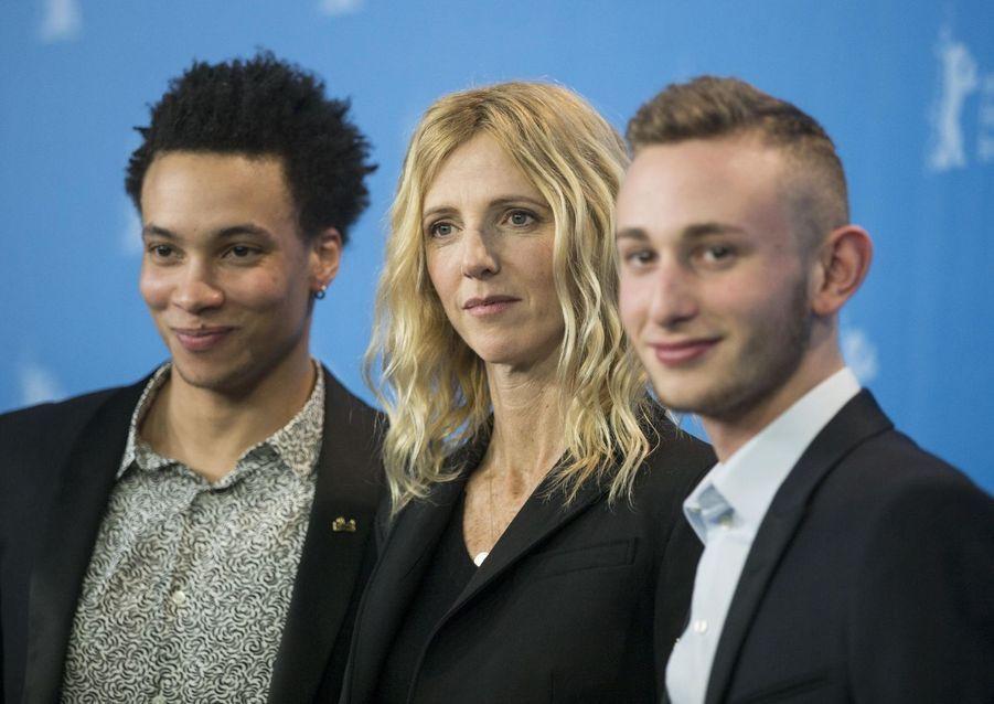 Corentin Fila, Sandrine Kberlain et Kacey Mottet