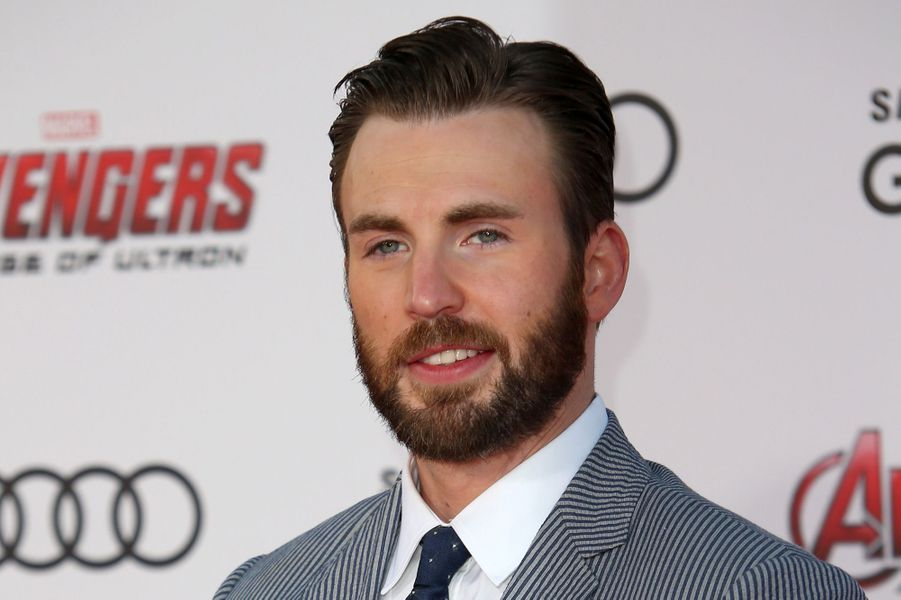 Chris Evans à Los Angeles le 13 avril 2015