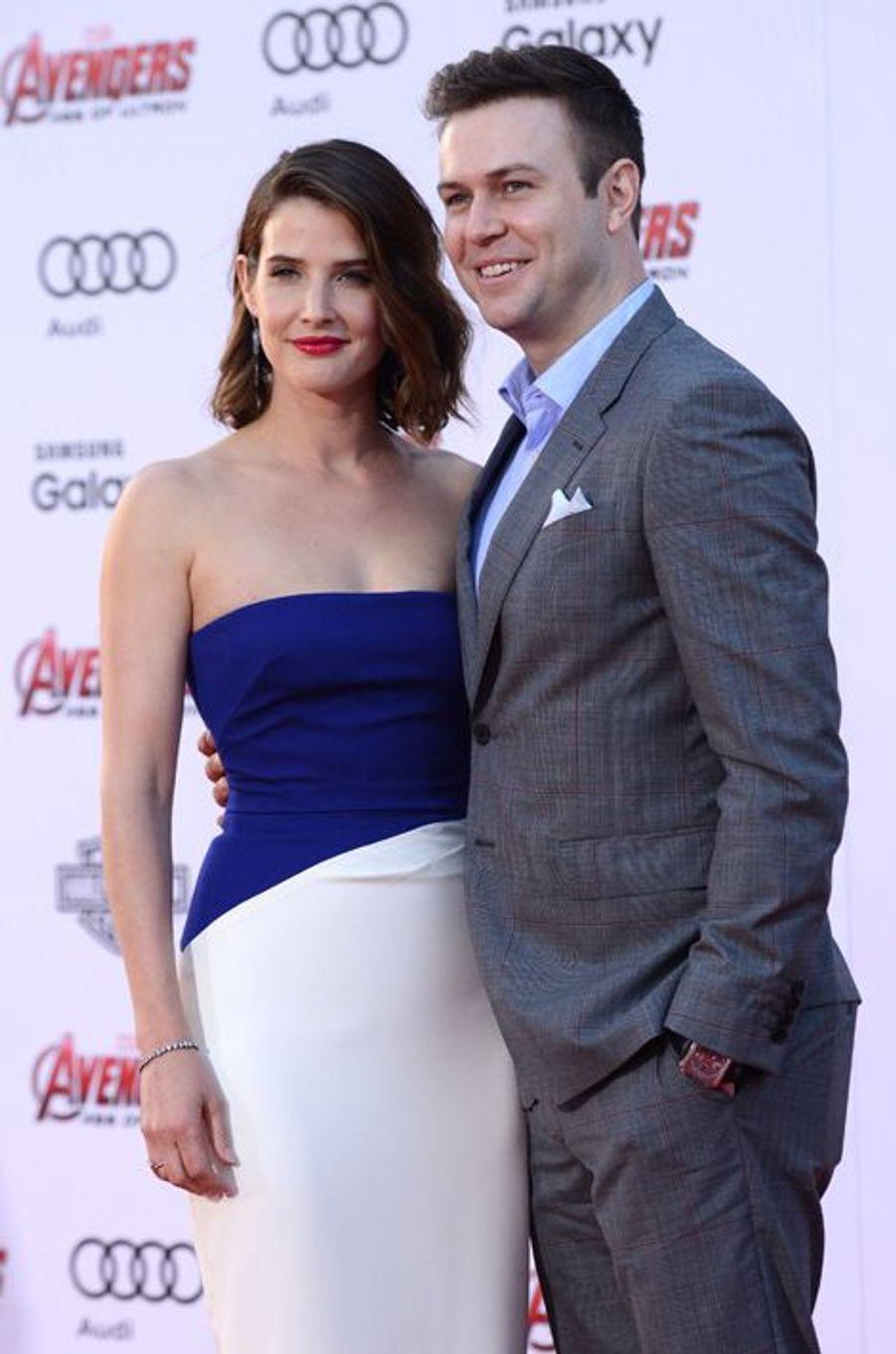 Cobie Smulders et son époux, Taran Killam, à Los Angeles le 13 avril 2015