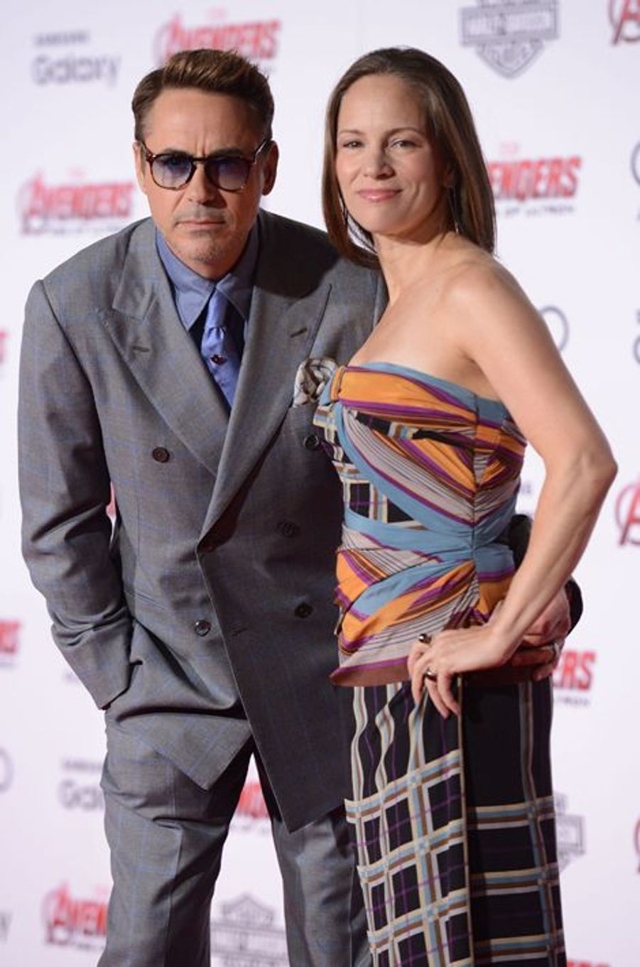 Robert Downey Jr. et son épouse, Susan Nicole Levin, à Los Angeles le 13 avril 2015