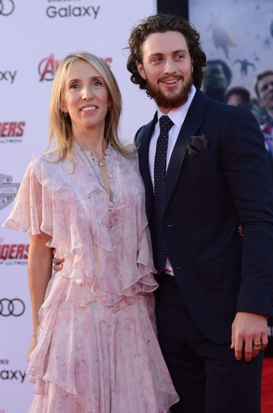 Sam et Aaron Taylor-Johnson à Los Angeles le 13 avril 2015