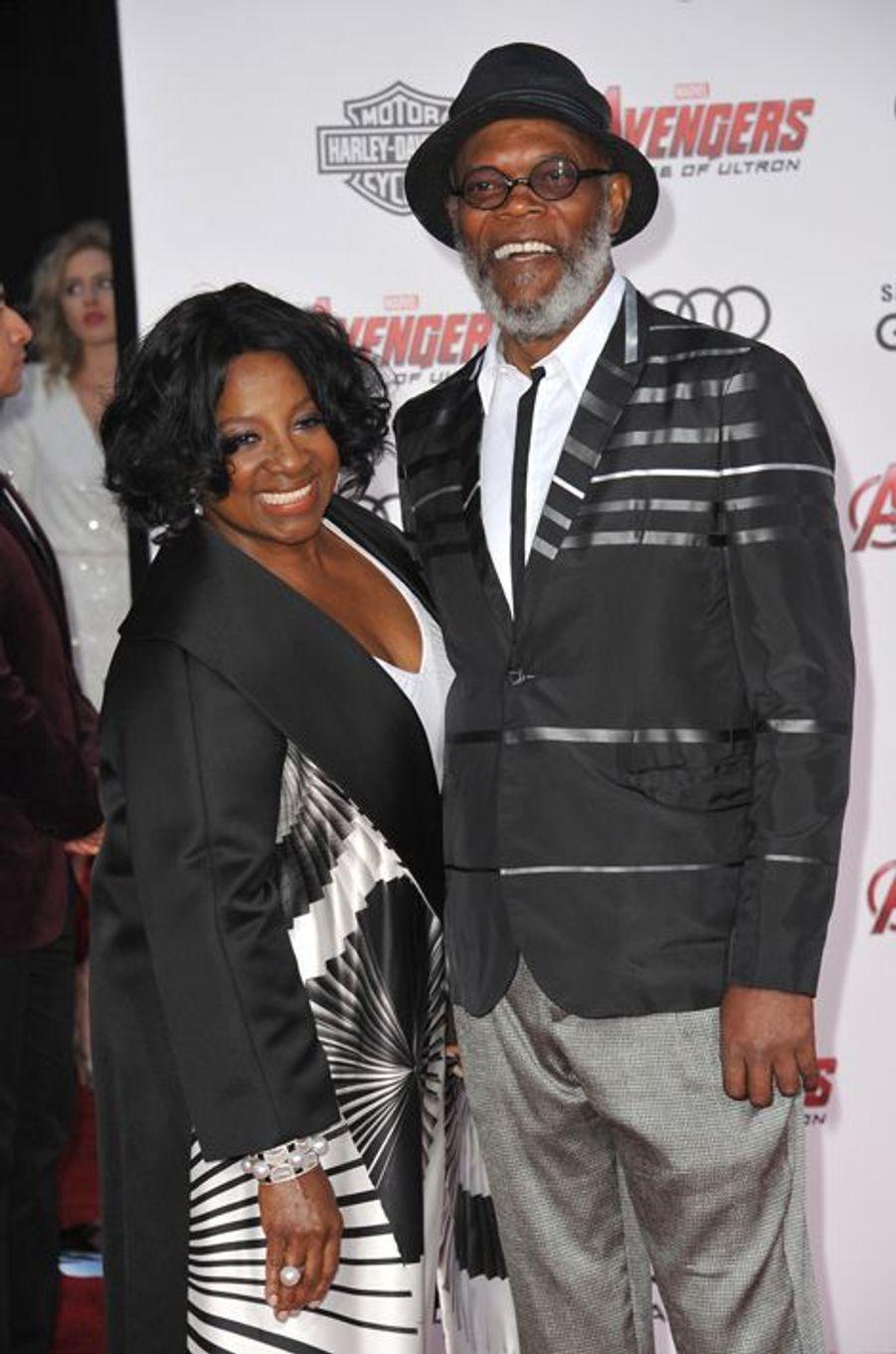 Samuel L. Jackson et son épouse, Latanya, à Los Angeles le 13 avril 2015